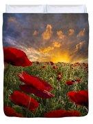 Poppy Field Duvet Cover by Debra and Dave Vanderlaan