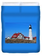 Portland Head Light Duvet Cover by Catherine Reusch  Daley