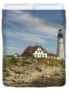 Portland Head Lighthouse Duvet Cover by Mike McGlothlen