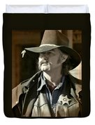 Portrait Of A Bygone Time Sheriff Duvet Cover by Christine Till