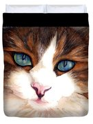Portrait Of A Cat Duvet Cover by Janine Riley