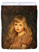 Portrait Of A Girl Duvet Cover by John William Waterhouse
