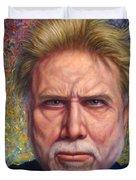 Portrait of a Serious Artist Duvet Cover by James W Johnson