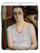 Portrait of a Woman Duvet Cover by Henri Lebasque