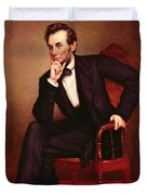 Portrait of Abraham Lincoln Duvet Cover by George Peter Alexander Healy