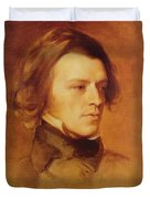 Portrait Of Alfred Lord Tennyson Duvet Cover by Samuel Laurence