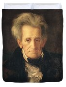 Portrait Of Andrew Jackson Duvet Cover by George Peter Alexander Healy