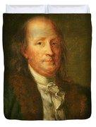 Portrait of Benjamin Franklin Duvet Cover by George Peter Alexander Healy