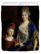Portrait Of Catherine Coustard Duvet Cover by Nicolas de Largilliere