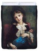 Portrait Of Catherine Du Bouchage Duvet Cover by Antoine Auguste Ernest Hebert