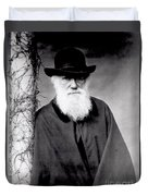 Portrait Of Charles Darwin Duvet Cover by Julia Margaret Cameron