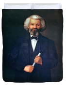 Portrait Of Frederick Douglass Duvet Cover by American School