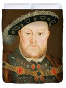 Portrait Of Henry Viii Duvet Cover by English School