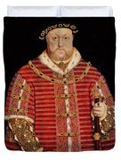 Portrait Of Henry Viii Duvet Cover by Hans Holbein the Younger