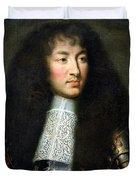 Portrait of Louis XIV Duvet Cover by Charles Le Brun