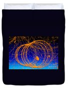Positron Track Duvet Cover by Photo Researchers