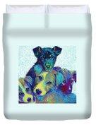 Pound Puppies Duvet Cover by Jane Schnetlage