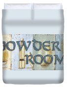 Powder Room Duvet Cover by Debbie DeWitt