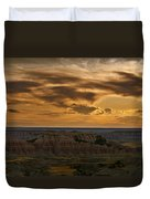Prairie Wind Overlook Badlands South Dakota Duvet Cover by Steve Gadomski