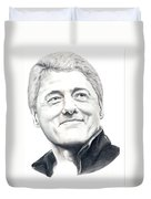 President Bill Clinton Duvet Cover by Murphy Elliott