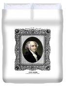 President John Adams Portrait  Duvet Cover by War Is Hell Store