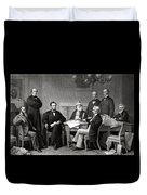 President Lincoln And His Cabinet Duvet Cover by War Is Hell Store
