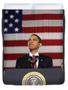 President Obama Duvet Cover by War Is Hell Store