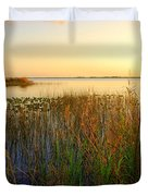 Pretty Evening At The Lake Duvet Cover by Susanne Van Hulst