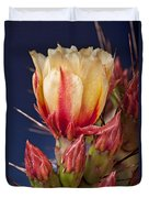 Prickly Pear Flower Duvet Cover by Kelley King
