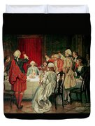 Prince Charles Edward Stuart In Edinburgh Duvet Cover by William Brassey Hole