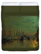 Prince's Dock Hull Duvet Cover by John Atkinson Grimshaw