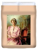 Princess Diana The Peoples Princess Duvet Cover by Carole Spandau