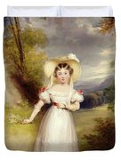 Princess Victoria aged nine Duvet Cover by Stephen Catterson the Elder Smith
