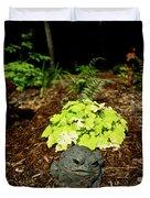 Private Garden Go Away Duvet Cover by Douglas Barnett