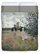 Promenade Near Argenteuil Duvet Cover by Claude Monet