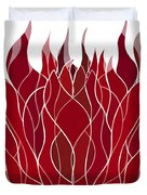 Psychedelic flames Duvet Cover by Frank Tschakert