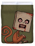 Psycho Sack Monkey Duvet Cover by John Schwegel