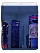 Pudong - Epitome Of Shanghai's Modernization Duvet Cover by Christine Till