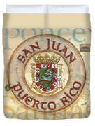 Puerto Rico Coat Of Arms Duvet Cover by Debbie DeWitt
