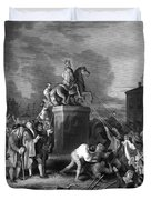 Pulling Down The Statue Of George IIi Duvet Cover by War Is Hell Store