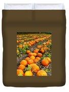 Pumpkin Patch Duvet Cover by Carol Groenen