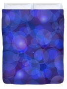Purple And Blue Abstract Duvet Cover by Frank Tschakert