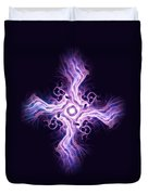 Purple Cross Duvet Cover by Anastasiya Malakhova