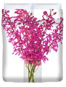 purple orchid in vase Duvet Cover by ATIKETTA SANGASAENG