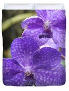 Purple Orchids Duvet Cover by Michael Peychich