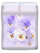 Purple Pansies Duvet Cover by Elena Elisseeva