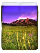 Purple Skies And Wildflowers Duvet Cover by Scott Mahon