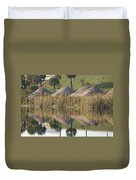 Pyrimids By The Lakeside Cache Duvet Cover by Rob Hans