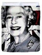 Queen Elizabeth II Duvet Cover by Luis Ludzska