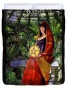 Queen Of Pentacles Duvet Cover by Tammy Wetzel